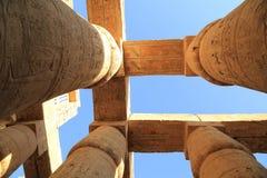 Colonnes de temple de Karnak Photo stock