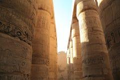 Colonnes de temple de Karnak Image libre de droits