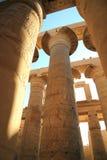 Colonnes de temple de Karnak Images stock