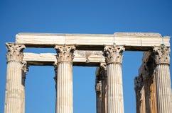 Colonnes du temple grec Photographie stock libre de droits