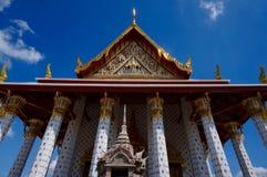 Colonnes et architecture au temple de Wat Arun à Bangkok Photographie stock libre de droits