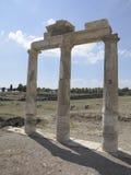 Colonnes et ruines de temple antique d'Artemis Images stock