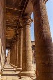Colonnes Horus Edfu Photographie stock