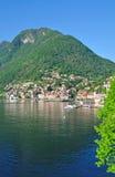 Colonno, See Como, Beteiligter sehen, Italien Lizenzfreies Stockbild