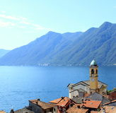 Colonno. View from the roofs of Colonno, Lake Como Royalty Free Stock Photography