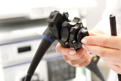 Colonoscope, gastroscope. Royalty Free Stock Images