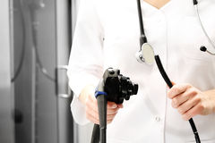 Colonoscope, gastroscope. Royalty Free Stock Image