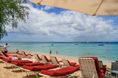Colony Club in Barbados. Beach in Colony Club hotel in Barbados Royalty Free Stock Image
