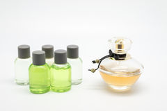 Colony of different scents and soaps Stock Images