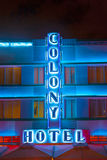 Colony hotel at ocean drive by Royalty Free Stock Image