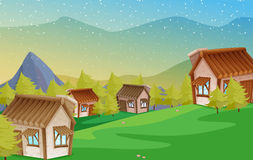 A colony of houses. Illustration of a colony of houses in nature Royalty Free Stock Images
