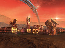 Colony on a red planet Stock Images