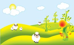 Colony sheep Royalty Free Stock Photos