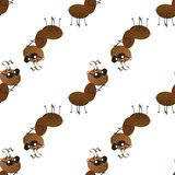 A colony of small working ants on the way. Seamless Wallpaper pattern. stock photos