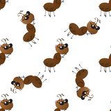 A colony of small working ants on the way. Seamless Wallpaper pattern. royalty free illustration