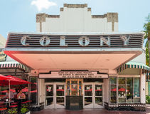 The Colony Theatre in Miami Beach stock photos