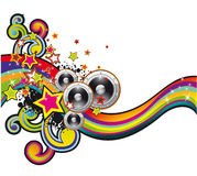 Coloorful Music Background Royalty Free Stock Photography