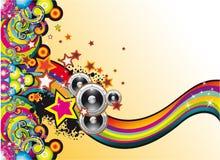 Coloorful Musik-Hintergrund Stockfotografie
