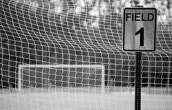 Coloque 1 fútbol Imagen de archivo libre de regalías