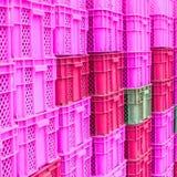 Coloque a caixa plástica da cor Fotografia de Stock