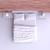 Coloque com descansos e uma cobertura na sala de canto, ilustração 3d Fotografia de Stock