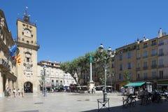 Coloque de l'HÃ'tel-de-Ville, Aix-en-Provence, França Imagem de Stock