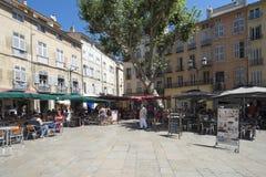 Coloque de l'HÃ'tel-de-Ville, Aix-en-Provence, França Fotografia de Stock