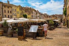 Coloque DES Cardeurs com diversos cafés em Aix-en-Provence, França Foto de Stock