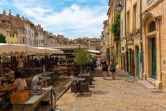 Coloque DES Cardeurs com diversos cafés em Aix-en-Provence, França Imagem de Stock Royalty Free