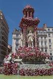 Coloque DES Jacobins debajo de rosas Foto de archivo
