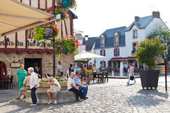Coloque Donatien Lepre, cidade de Le Croisic, França Fotos de Stock Royalty Free
