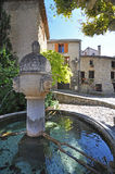 Coloque du Vieux-Marche, Vaison-La-lechuga romana, Vancluse, en Provence, Fotos de archivo libres de regalías