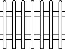 Coloque estacas a cerca, vetor, teste padrão sem emenda imagem de stock royalty free