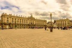 Coloque a Estanislao, centro de ciudad histórico de Nancy en Lorena, Francia Foto de archivo
