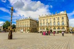 Coloque a Estanislao, centro de ciudad histórico de Nancy en Lorena, Francia Fotografía de archivo