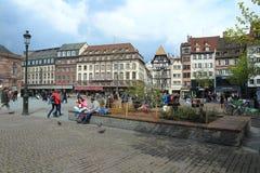 Coloque Kléber en Estrasburgo Fotos de archivo libres de regalías