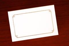 Coloque la tarjeta Fotografía de archivo libre de regalías