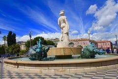 Coloque Massena, agradável, França Imagem de Stock Royalty Free