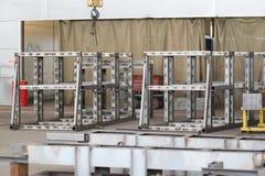 Coloque o conjunto de estruturas do metal Fotografia de Stock Royalty Free