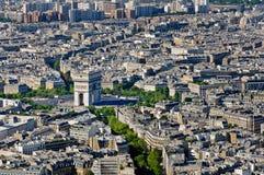 Coloque o de l'Etoile e lugar de Arc de Triomphe, Paris, França Fotos de Stock Royalty Free