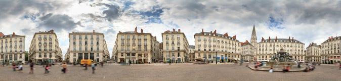 Coloque o panorama de Royale Nantes 360 fotos de stock royalty free