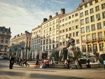 Coloque o terreux da cidade velha de Lyon, França Fotografia de Stock Royalty Free