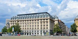 Coloque Poelaert con los edificios del ministerio de la justicia, Bruselas Imágenes de archivo libres de regalías