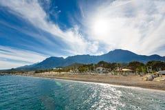 Coloque um feriado da praia Fotos de Stock Royalty Free