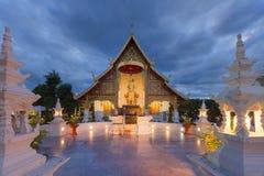 Coloque un Lanna budista viejo querido Templo de Wat Phra-singha grande Foto de archivo libre de regalías