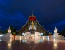 Coloque un Lanna budista viejo querido Templo de Wat Phra-singha grande Imágenes de archivo libres de regalías