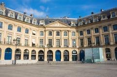 Coloque Vendome en París Imagenes de archivo