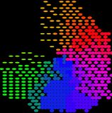 Coloré abstrait - fond Images libres de droits