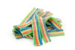 Coloré acidifiez la sucrerie de mastication photos stock