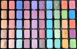 Coloré composez le kit pour des femmes Photo stock